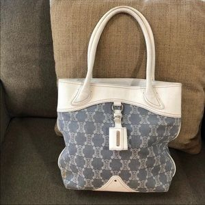 Authentic Celine Macadam Denim Tote Bag